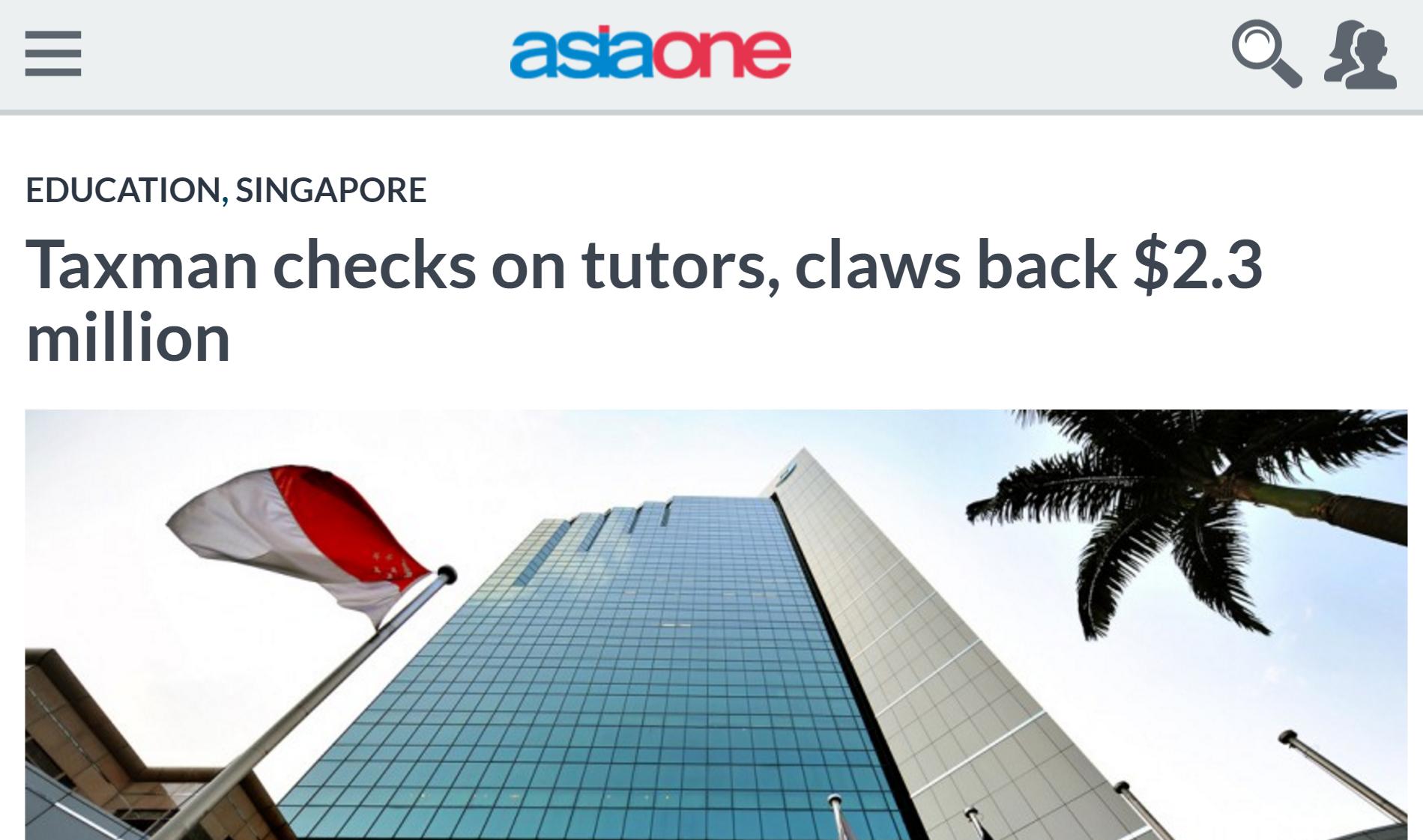 Taxman checks on tutors, claws back $2.3 million